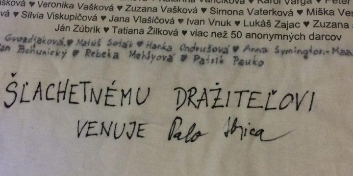 DRAŽBA Č5: Tričko (vypraté, neviem, či v perwolle ;o), v ktorom hrdo bežal pali Hrica na podporu projektu Cesta von (jediný originál na celom svete ;o)